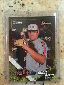 Details About Rare Chris Betts Bowman 2014 Under Armour All American Baseball Card Tampa Rays