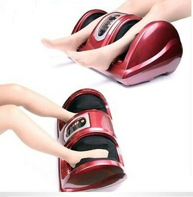 Used - Red Burgundy Shiatsu Kneading and Rolling Foot Leg Massager Calf Ankle