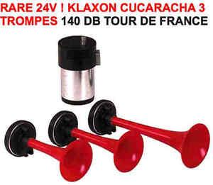 24v tour de france klaxon italien 3 trompes 140db raid 4x4 hdj kdj patrol kdj ebay. Black Bedroom Furniture Sets. Home Design Ideas