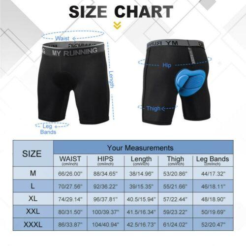 Men/'s Cycling Shorts 4D Gel Padded Underwear MTB Bicycle Road Bike Biking