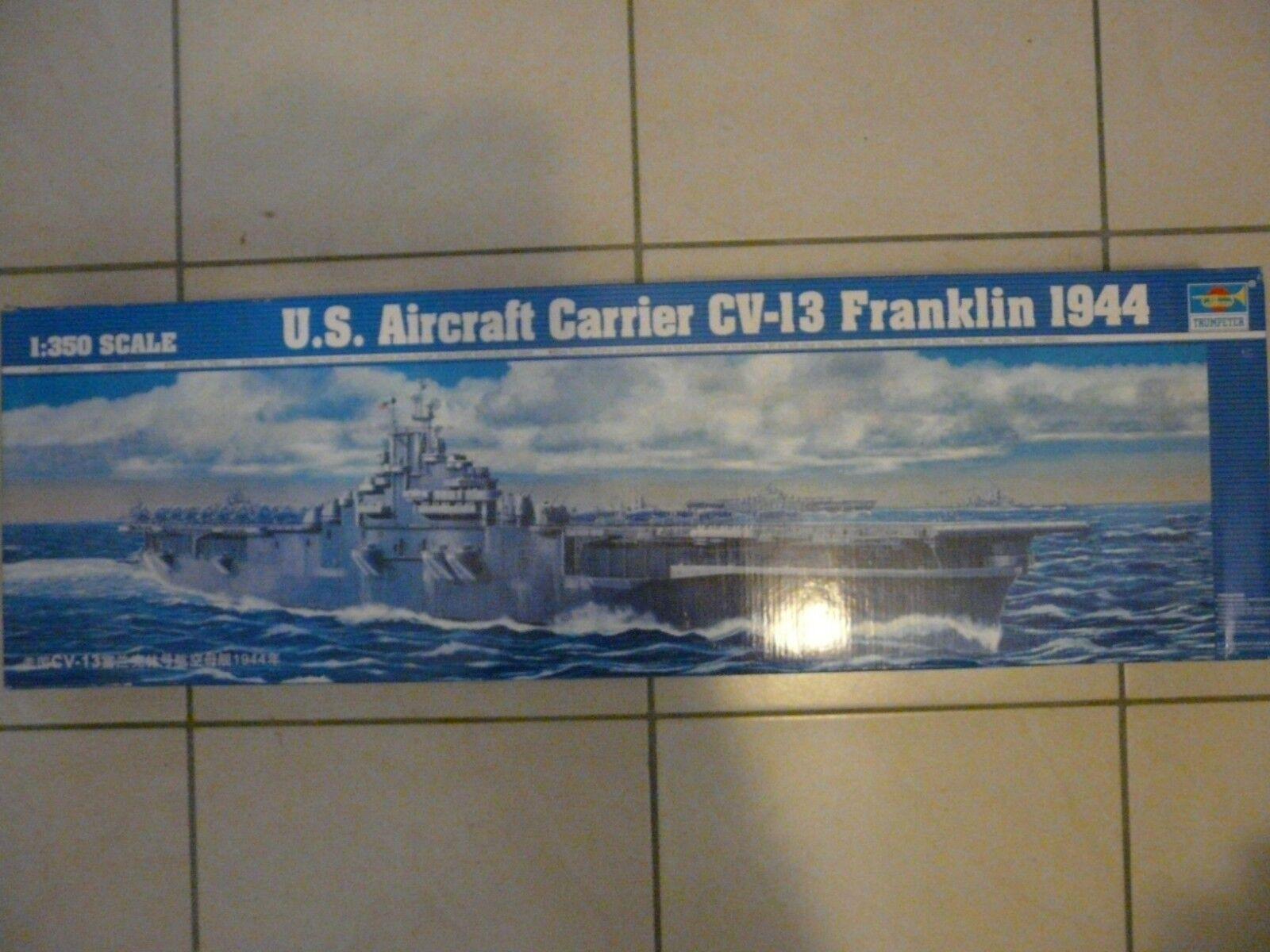 Maquette Bateau 1 350 Trumpeter Porte-avions US CV-13 Franklin 1944 Ref 5604