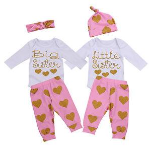 c010f5d7423 3PS Newborn Kids Baby Girls Outfit Clothes Romper Jumpsuit Bodysuit+ ...