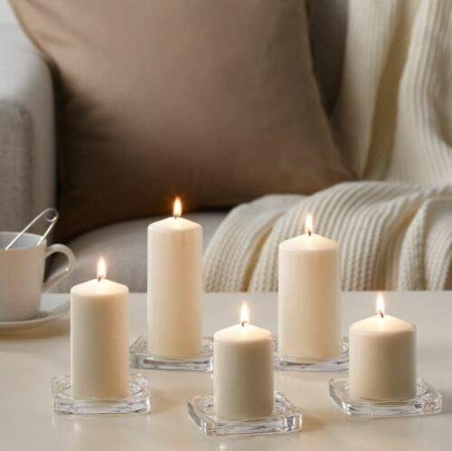 Sans parfum bloc Bougie Lot de 5-Naturel-IKEA FENOMEN *** Multi-Acheter Discount ***