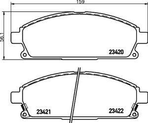 Mintex-Front-Brake-Pad-Set-MDB1975-BRAND-NEW-GENUINE-5-YEAR-WARRANTY