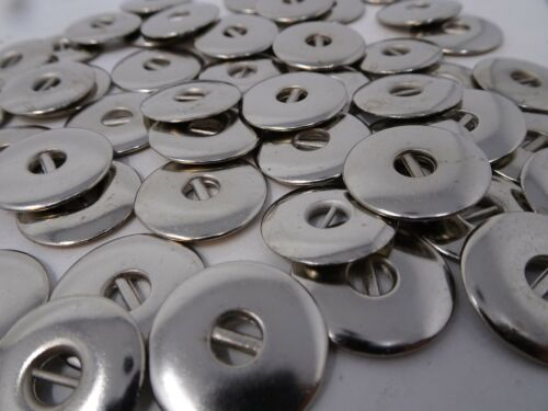 Vintage Shiny Nickel 2-Hole Metal /& Wire Buttons Steampunk 17mm Lot of 60 B29-3