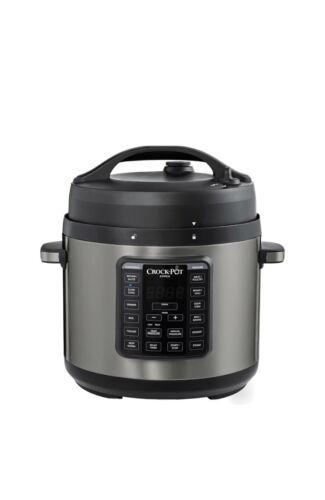 Black Stainless Pressure Cooker Model 2100468 New Crock-Pot Express 6-qt