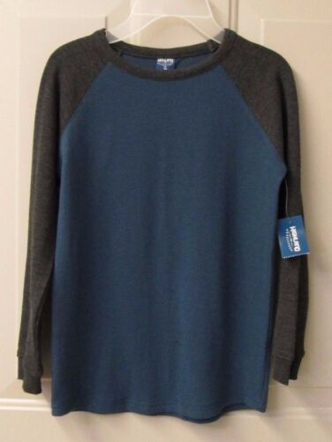Boy/'s Highland Outfitters Grey /& Blue Turquoise Long Sleeve Shirt FREE SHIP