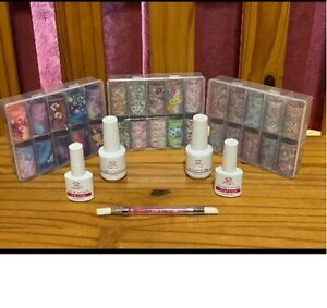 Makartt-Nail-Art-Foil-Glue-Gel-with-Flower-Starry-Sky-Star-Foil-Stickers-Set-Kit