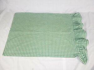 ONE Ralph Lauren Forest Green Medium Gingham Check Std. Pillowcase 100% Cotton