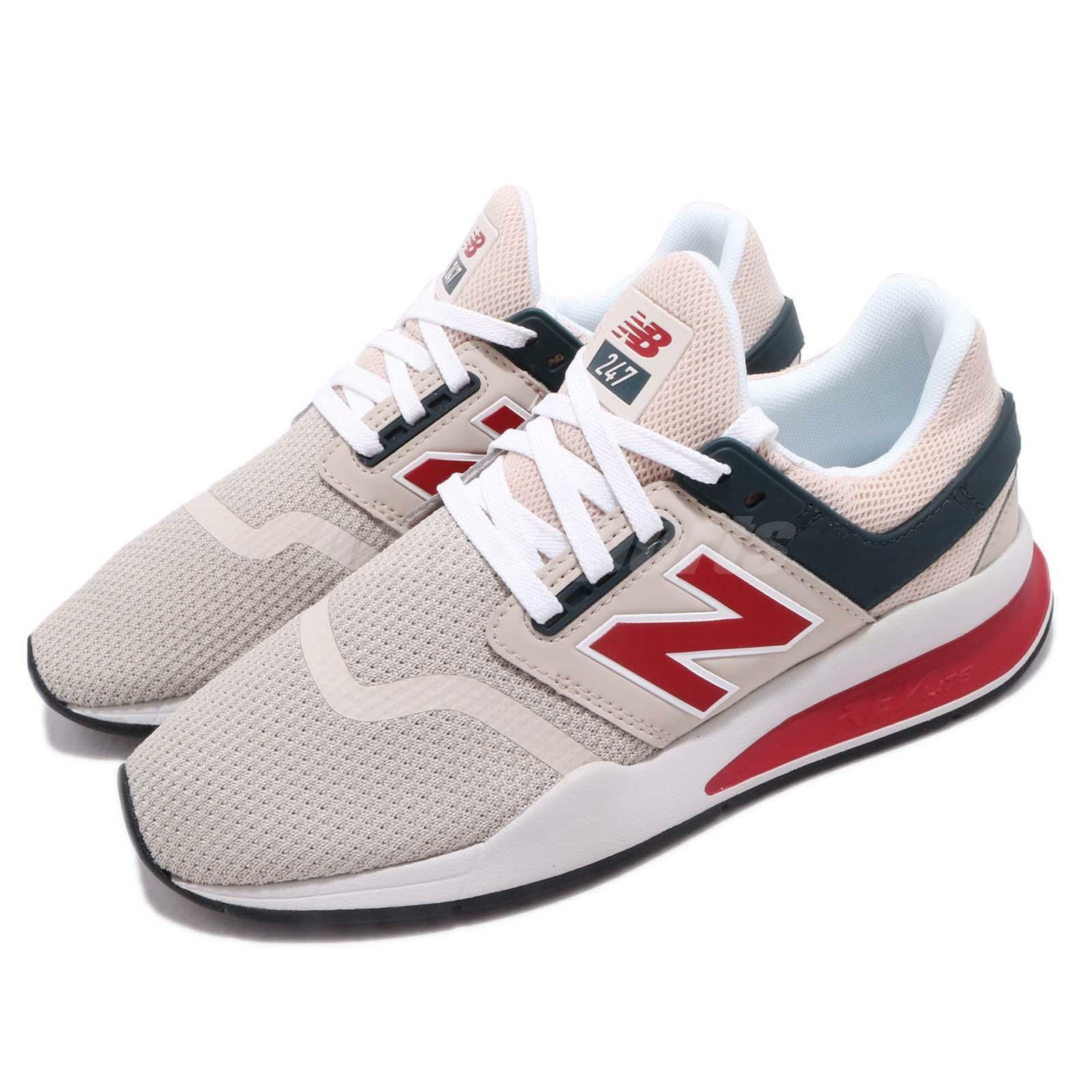 New Balance MS247NMN D Beige Red White Men Running shoes Sneakers MS247NMND