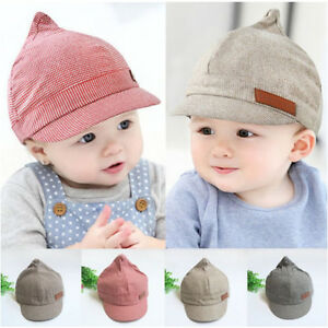 0cecd888892 Kid Baby Boy Toddler Newborn Poo Peaked Hat Beret Sun Hats Baseball ...