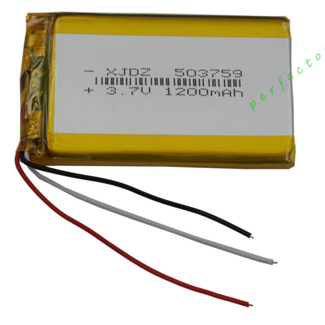 Astonishing 3 7V 1200 Mah 3 Wires Thermistor Polymer Li Battery For Pda Gps Wiring Digital Resources Funapmognl