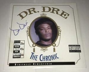 DR-DRE-Signed-THE-CHRONIC-Record-Album-LP-RARE-RAPPER-Autograph-JSA-LOA-COA