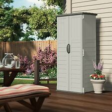 Item 4 Outdoor Storage Cabinet Shed Patio Garden Vertical Tall Backyard  Locking Plastic  Outdoor Storage Cabinet Shed Patio Garden Vertical Tall  Backyard ...