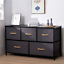 thumbnail 30 - 3-7-Drawers-Fabric-Dresser-Bedside-End-Table-Nightstand-Bedroom-Storage-Tower-US