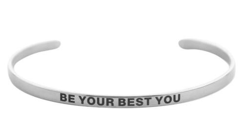 316 L acier inoxydable Bracelet positive Inspirant Citation Cuff bracelets 2019