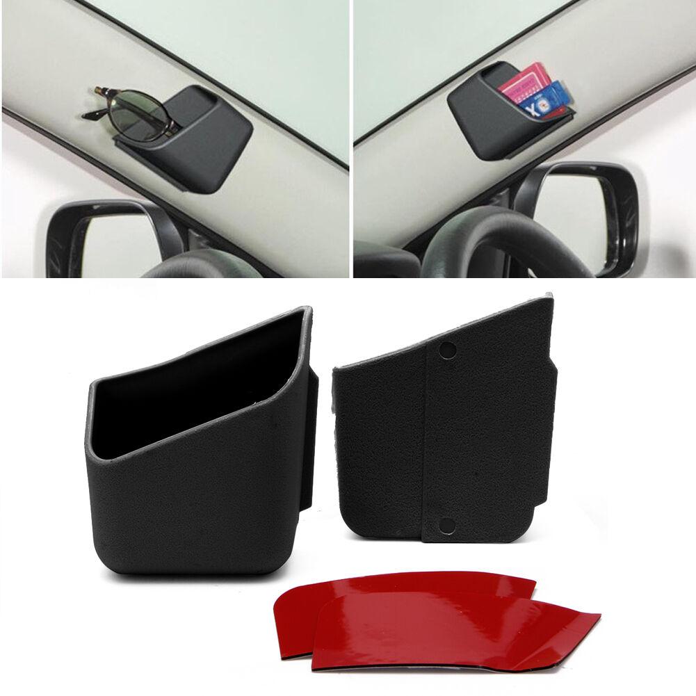 2X Universal Car Auto Accessories Glasses Organizer Storage Box Holder Black 2
