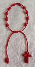 Red  Decenario Knotted Rosary Stylish Pulseras Trendy Celebrity Bracelet