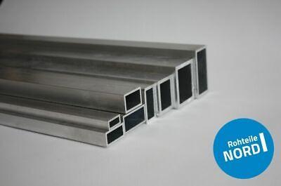 Aluminium Rechteckrohr Aluprofil Vierkantrohr ALMgSi0,5 F 22 Oberfl/äche blank gezogen Abmessungen 50x20x2 mm L/änge 1500 mm