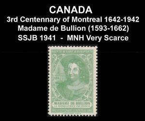 CANADA-SSJB-1941-SEAL-034-MADAME-De-BULLION-1593-1662-034-SCARCE-VF-MNH-POSTER-STAMP