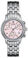 Swiss Military Hanowa Women's 06-7002-04-010 Chronograph Crystals Pink MOP Watch