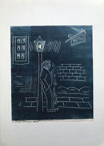 Mann-Leaning-at-The-Street-Light-Evening-City-Hotel-1978-Modern-Type-11-11-16x16
