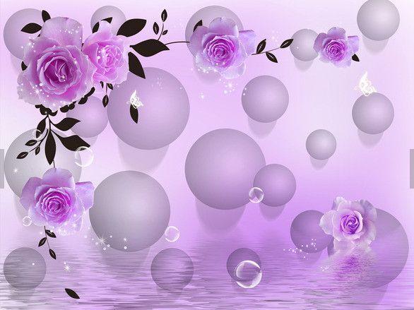3D purple Rhododendron 45098 Fototapeten Wandbild Fototapete BildTapete Familie DE