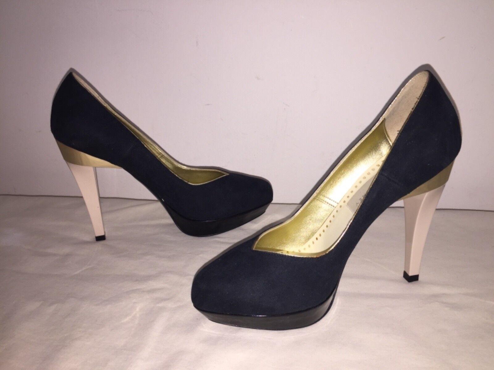 Stella McCartney Women's Black Suede Pumps w  gold Heel Sz 37