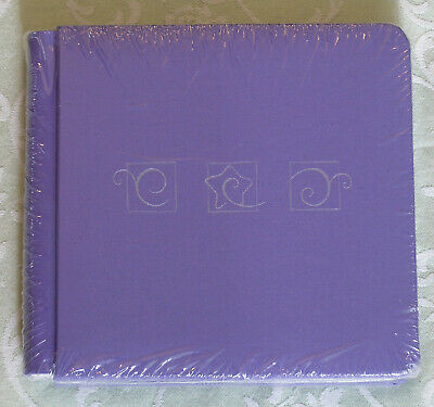 NIP Creative Memories 7x7 PURPLE with SWIRLS AND STAR Album with pages
