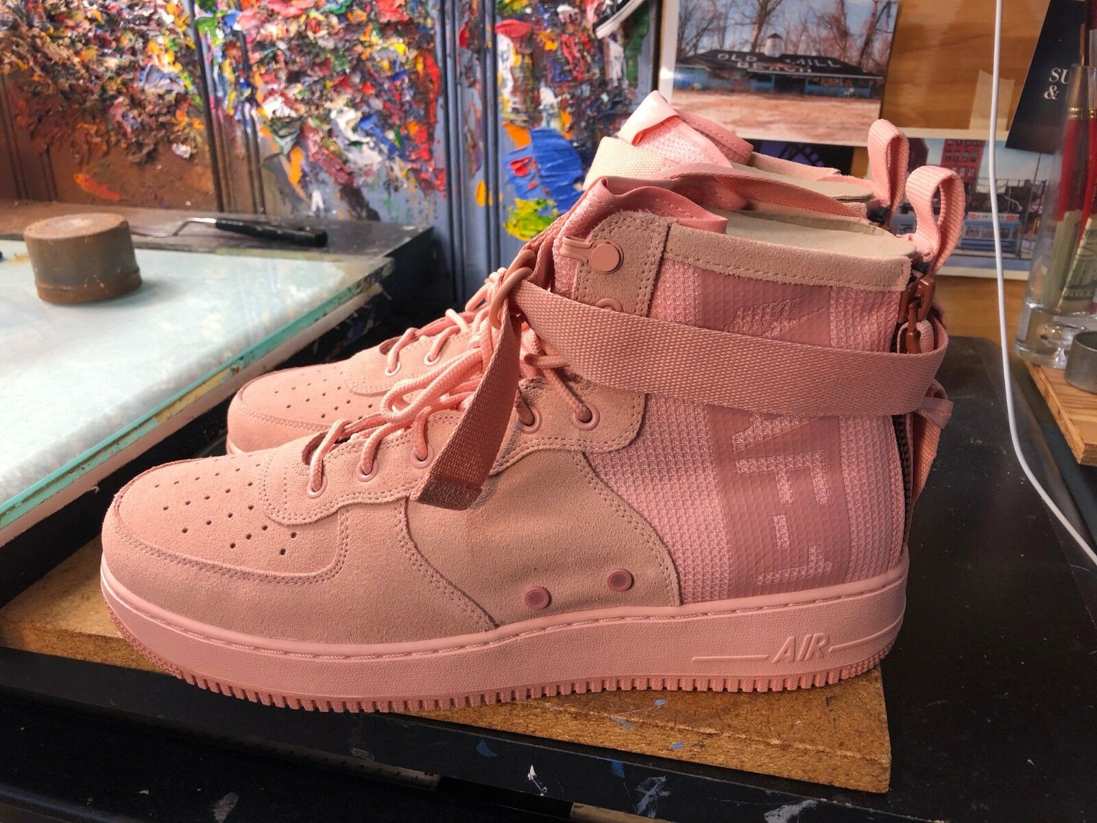 competitive price 29ab2 7282d Nike SF AF1 Mid Suede Coral Stardust Red Stardust Size US 15 Men s AJ9502  600