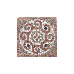 Charmant Rosoni Rosone Mosaico In Marmo Su Rete Per Interni Esterni 66x66 Majorca 66.47 Circulation Sanguine Tonifiante Et Douleurs D'ArrêT