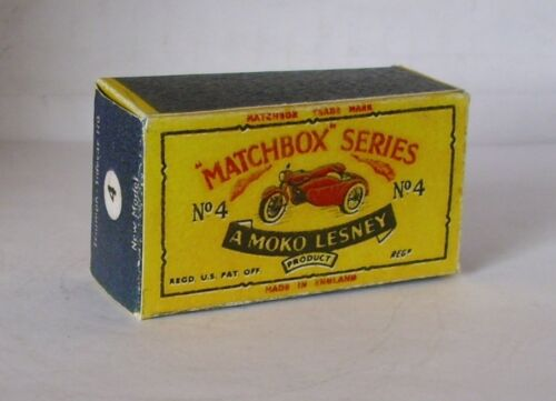 REPRO BOX MATCHBOX 1:75 n 04 TRIUMPH and sidecar ALT