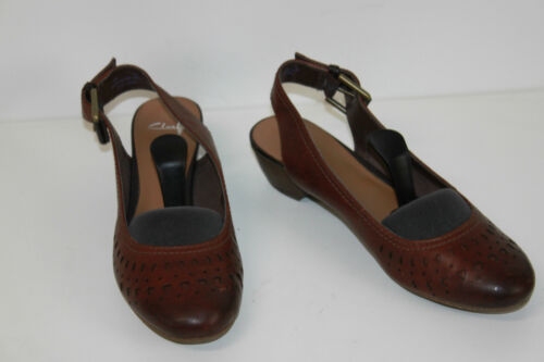 Calado Us Cuero 7 Clarks Sandalias T Marrón Zapatos Fr 5 De Salón 38 wUZUfp