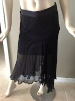 Guess By Marciano Felicia Silk Black Asymmetrical Skirt Size 6 Msrp: $138.00