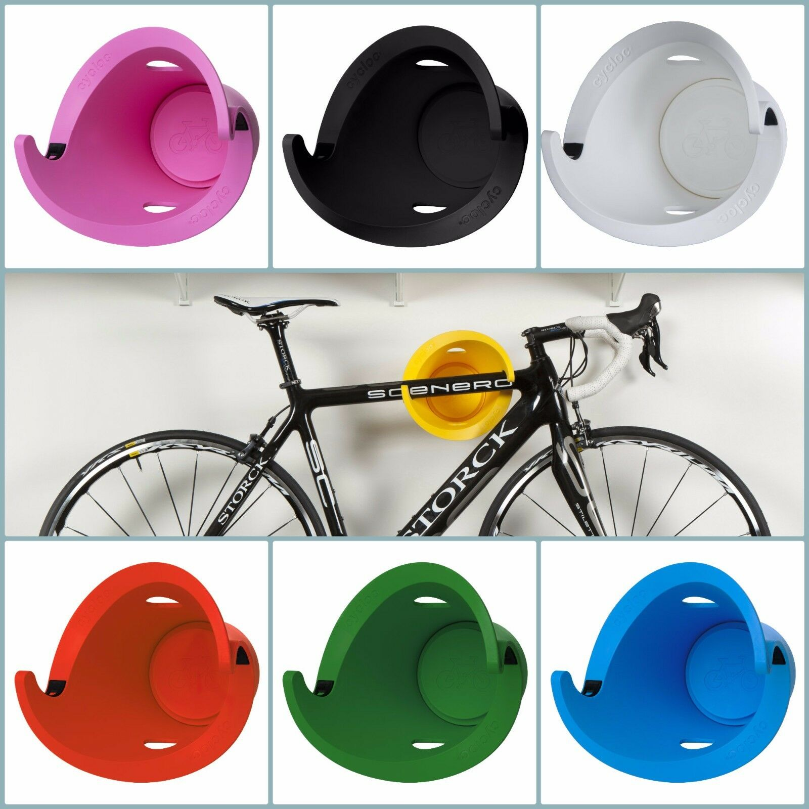 Cycloc Solo Horizontal greenical Bike hang Rubber Recycle 7 colors Every Weight