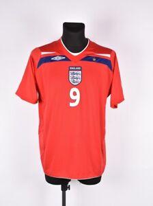 Umbro-Inghilterra-Rooney-9-Uomo-Calcio-T-Shirt-Maglia-Taglia-XL