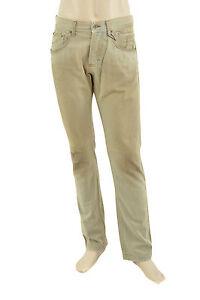 295-DOLCE-amp-GABBANA-beige-bleu-delave-Loose-Men-039-s-Denim-d-amp-g-Jeans-taille-32