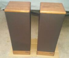 Vintage Pair Of Advent Prodigy Tower Speakers Parts Or Repair Only