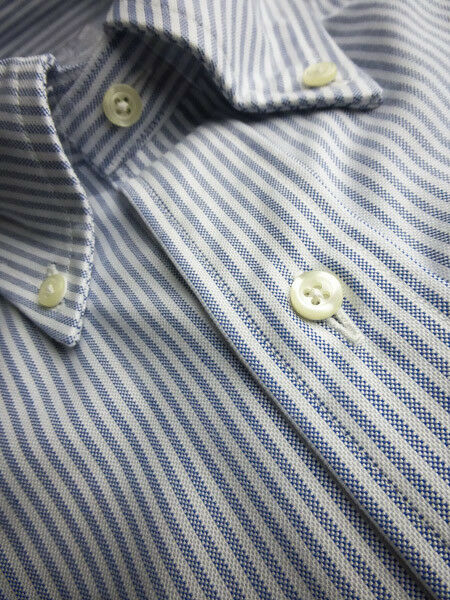 Brooks Brothers Oxford hemd OCBD Slim Fit - Blau Stripe Supima baumwolle USA NWT
