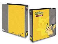 Pokemon Ultra Pro Pokemon PIKACHU 3-Ring-D-Ring Binder-Album-Quick Ship