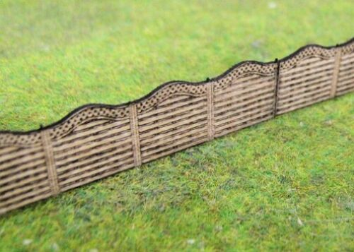 Gaugemaster GMKD52-4 x Laser Cut Wood Fence Panels N Gauge Kit 1st Class Post