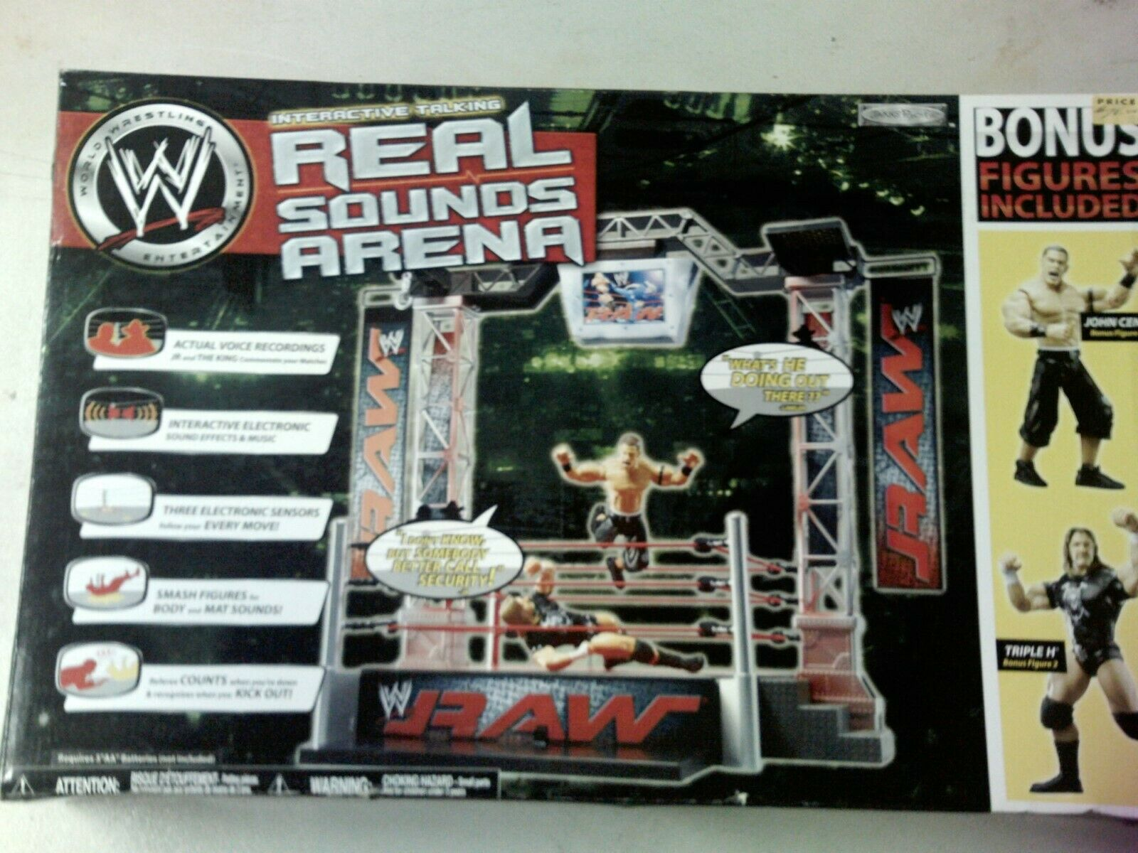 WWE REAL REAL REAL SOUNDS ARENA WITH JOHN CENA- TRIPLE H RARE 6fd