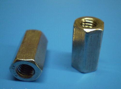 5 langmuttern Filetage manchons galvanisé m10 x 40 DIN 6334