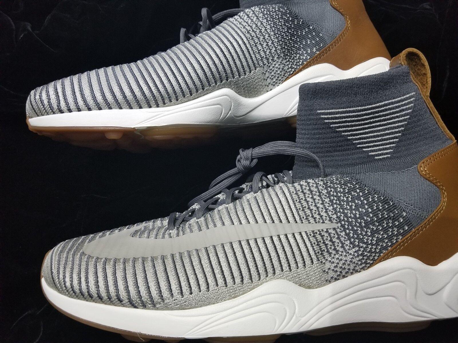 Hombre Nike gray Zoom mercurial XI Flyknit gray Nike Blanco Gum reducción de precio 69f78c