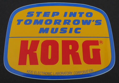 Aufkleber KORG Piano Synthesizer Keyboard 80er Jahre Sticker