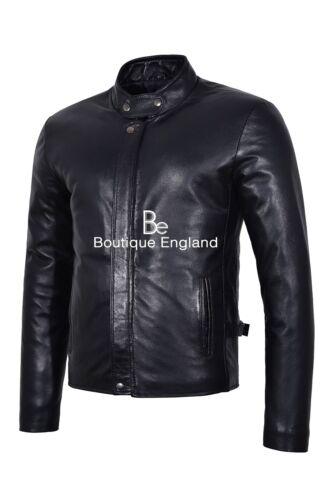 Rider da uomo in Real Black pelle Lambskin Soft Plain Fashion Style Giacca Biker ER0AwR