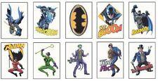 Batman Temporary Tattoos - 10 Tats on 10 Small Sheets (one tat per sheet)
