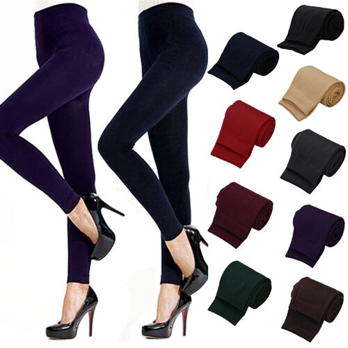 Lady Women Winter Warm Skinny Slim Stretch Pants Thick Footless Tights Reliable