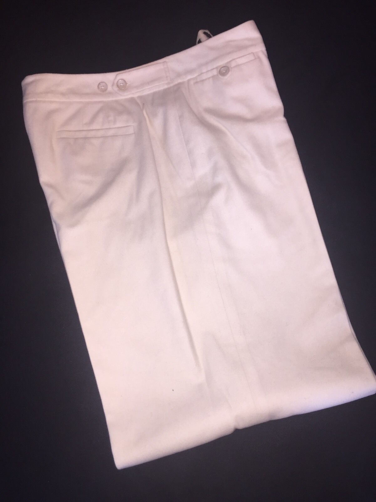 Ann Taylor Off White Cropped Cotton Pant