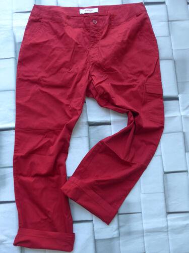 NEU 651 100 Rot Ton 50 long Gr Sheego 7//8 Hose Stoffhose Gr